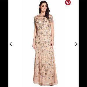 Beaded Adrianna papell Maxi Dress